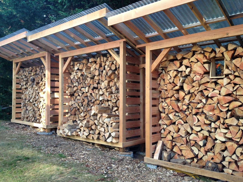 Постройка навеса для дров на даче