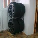 Как сделать стеллаж для шин