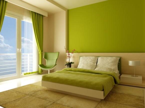 Дизайн спальни в одном цвете