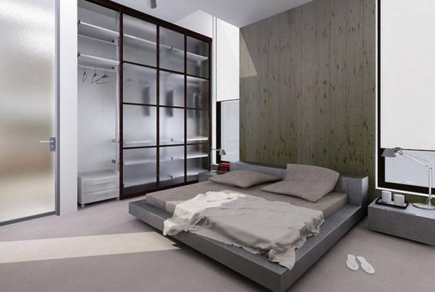 Шкаф купе в спальне с зеркальными дверями