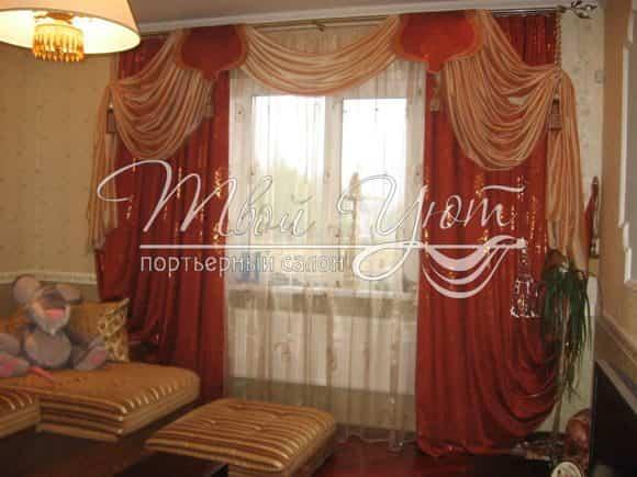 Зимние шторы в комнату