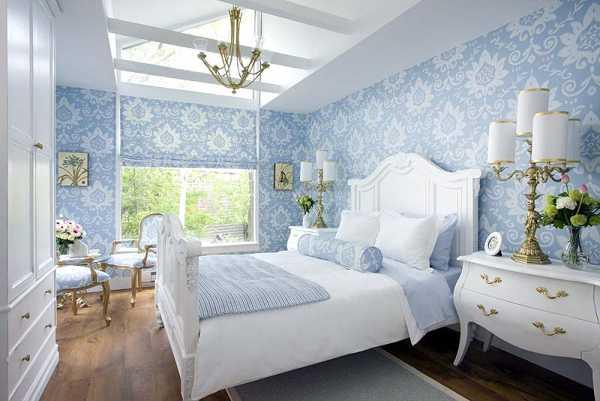 Спальня в белом цвете в стиле прованс