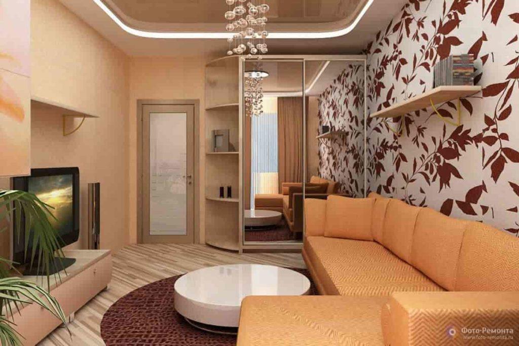 Создаем новый интерьер гостиной в хрущевке