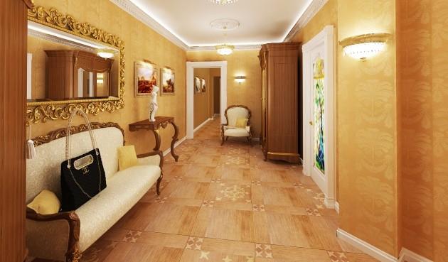 Стиль барокко в интерьере комнаты