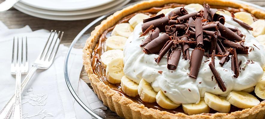 рецепт пирога баноффи