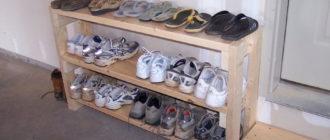 Полка для обуви своими руками из дерева, из подручных материалов в прихожую, полочка для обуви