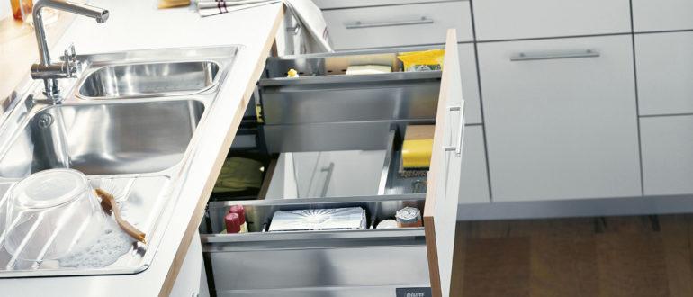 Шкаф под мойку для кухни, виды конструкций по форме и наполнению