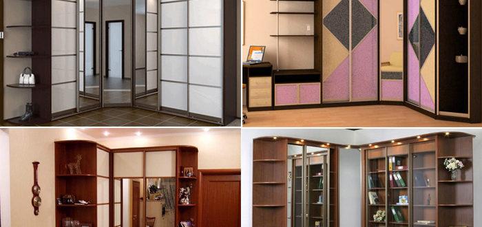 Угловой шкаф его размеры в зависимости от формы, чем отличаются